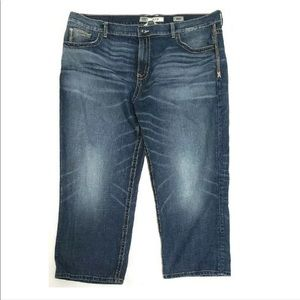 BKE Denim Mens Jeans Tyler Straight Distressed